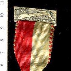 Medallas temáticas: PRECIOSA MEDALLA CONMEMORATIVA SUIZA, CIVIL O MILITAR. CON PRENDEDOR. Lote 52328524