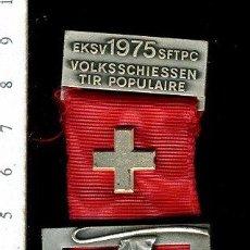 Medallas temáticas: PRECIOSA MEDALLA CONMEMORATIVA SUIZA, CIVIL O MILITAR. CON PRENDEDOR. Lote 52328542