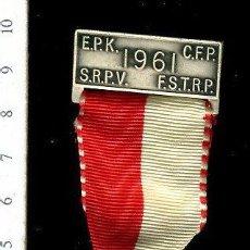 Medallas temáticas: PRECIOSA MEDALLA CONMEMORATIVA SUIZA, CIVIL O MILITAR. CON PRENDEDOR. Lote 52328624