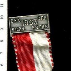 Medallas temáticas: PRECIOSA MEDALLA CONMEMORATIVA SUIZA, CIVIL O MILITAR. CON PRENDEDOR. Lote 52328708