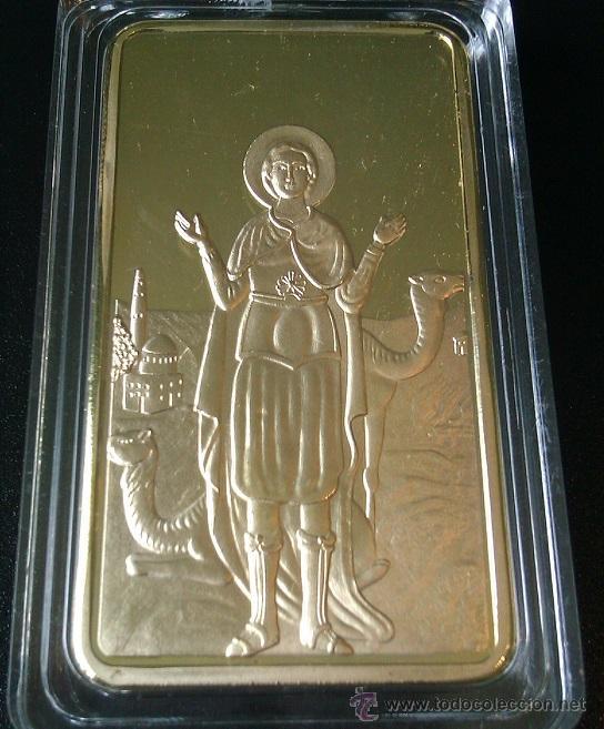 LINGOTE ORO 24K IGLESIA SAN MENAS EL CAIRO EDICION LIMITADA DIFICIL DE CONSEGUIR (Numismática - Medallería - Temática)