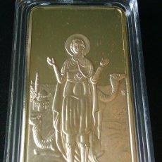 Medallas temáticas: LINGOTE ORO 24K IGLESIA SAN MENAS EL CAIRO EDICION LIMITADA DIFICIL DE CONSEGUIR. Lote 84920178