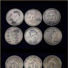 Medallas temáticas: 6 MONEDAS CONMEMORATIVAS ELVIS PRESLEY. Lote 51931924