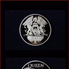 Medallas temáticas: MONEDA CONMEMORATIVA DE QUEEN BAÑADA EN PLATA. Lote 51708034