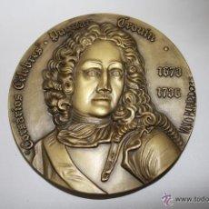 Medallas temáticas: M-413 - MEDALLA EN BRONCE, CORSARIO DUGUAN TROUIN. Nº 350-66. VASCO BERARDO. AÑOS 70. Lote 42135436