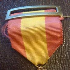 Medallas temáticas: CRUZ JUNTA ESPAÑOLA DE PEREGRINACIONES CON PASADOR Y CINTA BANDERA ESPAÑOLA. Lote 52818533