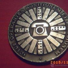 Medallas temáticas: MEDALLA COMPAÑIA TELEFONICA NACIONAL DE ESPAÑA - AÑO 1972 - ICTUS OPERANTES AGNITIONEM ET DECISIONEM. Lote 52877764