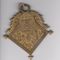 Medallas temáticas: MEDALLA COFRADIA DE LA ADORACION SANTO CRISTO Y VIRGEN SOLEDAD PARROQUIA SAN AGUSTIN BAENA 1900. Lote 52946096