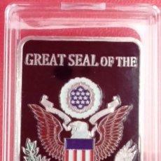 Medallas temáticas: INTERESANTE LINGOTE PLATA DE ESTADOS UNIDOS AIR FORCE DEP. CON ESCUDOS EN RELIEVE EDICION LIMITADA. Lote 52980062