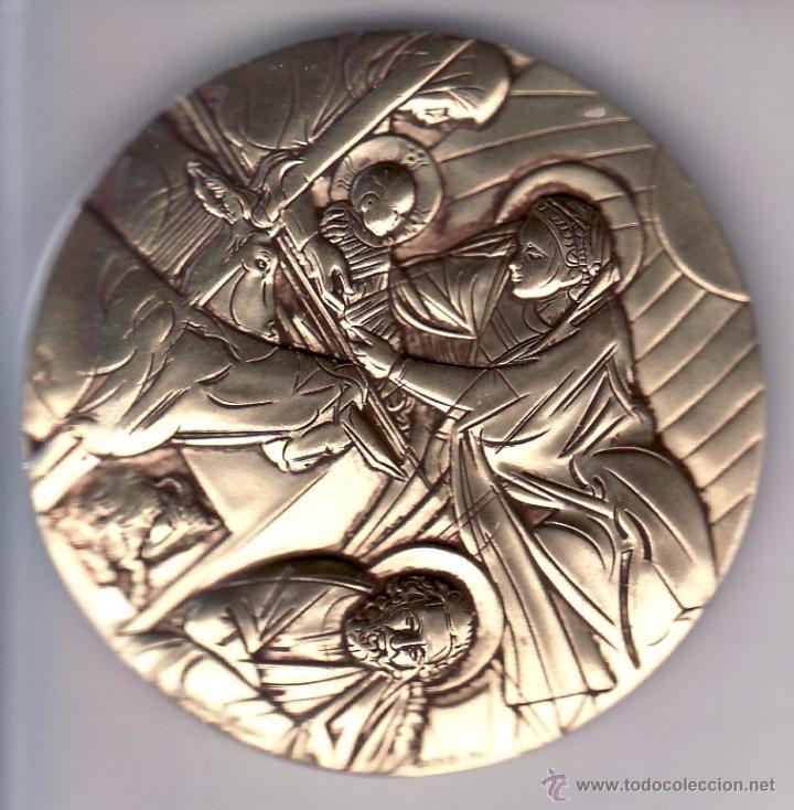 Medallas temáticas: GRAN MEDALLA COMMEMORATIVA HOMENAJE A GIOTTO - MIDE 6 CM - PESO APROX 120 GR - FIRMADA. BODINI - Foto 2 - 53058712