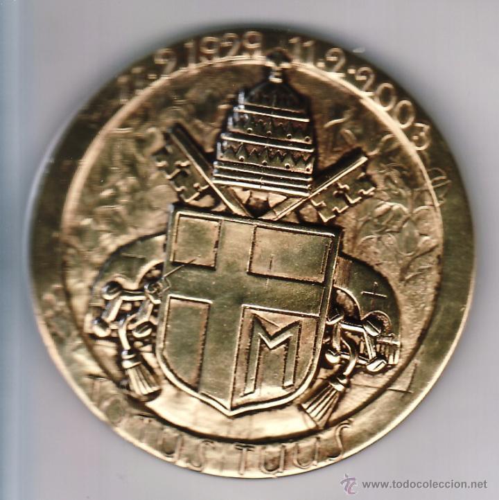 Medallas temáticas: GRAN MEDALLA COMMEMORATIVA HOMENAJE A GIOTTO - MIDE 6 CM - PESO APROX 120 GR - FIRMADA. BODINI - Foto 3 - 53058712