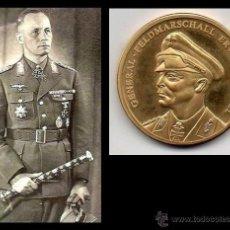Medallas temáticas: MONEDA DE BRONZE CHAPADA CON ORO ALEMANIA DEL GENERAL FELDMARSCHALL ERWIN ROMMEL. Lote 53179545