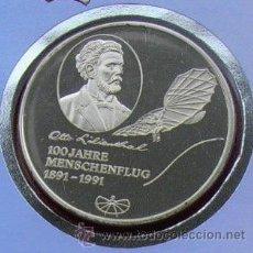 Medallas temáticas: MUY BONITA MONEDA PLATA DE 1991 100 ANIVERSARIO DEL PRIMER VUELO CON HUMANO OTTO LILIENTHAL ED.LIMIT. Lote 53480289