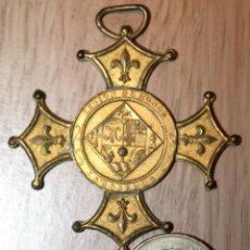 Medallas temáticas: MEDALLA LEGIÓN DE HONOR LABOREMUS. COLEGIO MARISTAS GERONA 1919. Lote 53490951