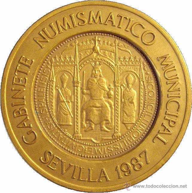 MEDALLA 400 ANIVERSARIO DE LA CASA DE LA MONEDA DE SEVILLA. 1.987 (Numismática - Medallería - Temática)