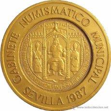 Medallas temáticas: MEDALLA 400 ANIVERSARIO DE LA CASA DE LA MONEDA DE SEVILLA. 1.987. Lote 53080657