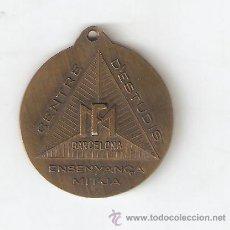 Medallas temáticas: MEDALLA DEL ANTIGUO CENTRE D'ESTUDIS D'ENSENYANÇA MITJA MONFER DE BCN. Lote 53805498