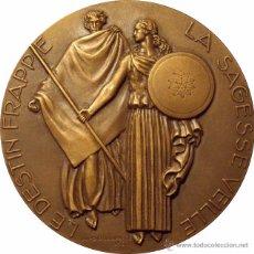 Medallas temáticas: FRANCIA. MEDALLA COMPAÑÍA DE SEGUROS LA ABEJA. 1.956. CON CAJA ORIGINAL. Lote 53821552