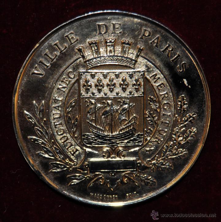 MEDALLA EN BRONCE EXPOSITION UNIVERSELLE DE PARIS. 1878. VILLE DE PARIS. POR MASSONNET (Numismática - Medallería - Temática)