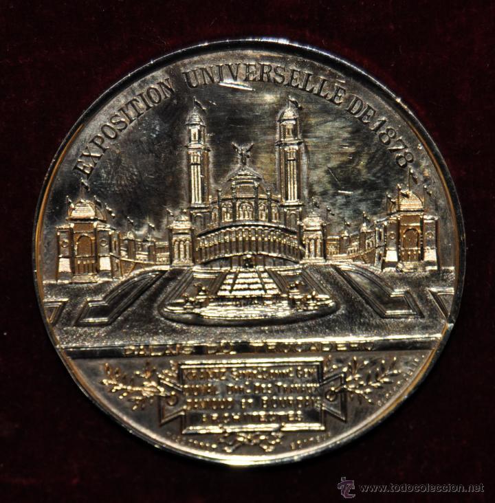 Medallas temáticas: MEDALLA EN BRONCE EXPOSITION UNIVERSELLE DE PARIS. 1878. VILLE DE PARIS. POR MASSONNET - Foto 2 - 53844273