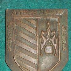 Medallas temáticas: PESADA PLACA BRONCE ASOCIACION ANTIGUOS ALUMNOS JESUITAS. 130X110X13. Lote 53953485