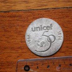 Medallas temáticas: MEDALLA SUBIRACHS. 50 ANVERSARIO 1946-1996. UNICEF PLATA DE LEY. Lote 54218403