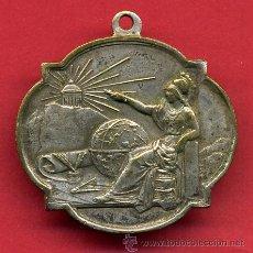 Medallas temáticas: MEDALLA PREMIO AL MERITO, ESCORLAR , PLATEADA , ANTIGUA ,ORIGINAL , V4. Lote 54232817