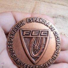 Medallas temáticas: MEDALLA CONMEMORATIVA DEL 75 ANIVERSARIO DE LA FEDERACION ESPAÑOLA DE CICLISMO 1896-1971 - RARA . Lote 54326995