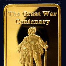 Medallas temáticas: IMPRESIONANTE LINGOTE ORO 24 KT CENTENARIO LA GRAN GUERRA 1914-1918 EDICION LIMITADA. Lote 132359242