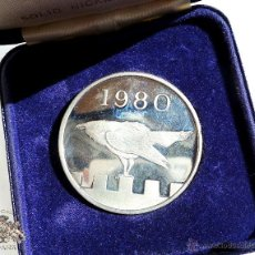 Medallas temáticas: THE TOWER MINT TOWER OF LONDON SOLID NICKLESILVER TONED IN DISPLAY CASE WF-1980. Lote 54545915