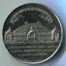 Medalhas temáticas: FRANCIA. MEDALLA EN METAL BLANCO DE LA EXPOSICIÓN UNIVERSAL DE 1878. 43,8G - 52MM. Lote 54595224