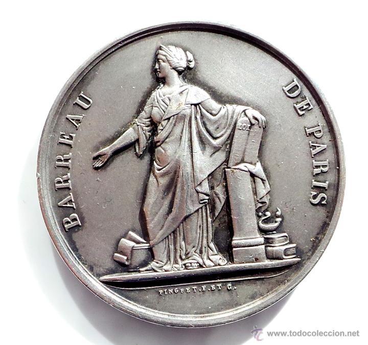 MEDALLA FRANCESA BARREAU DE PARIS (Numismática - Medallería - Temática)