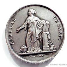 Medallas temáticas: MEDALLA FRANCESA BARREAU DE PARIS. Lote 54714434