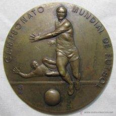 Medallas temáticas: GRAN MEDALLA DE BRONCE CAMPEONATO MUNDIAL DE FUTBOL ESPAÑA 82 MANOLO PRIETO. Lote 54792445