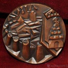 Medallas temáticas: MEDALLA EN BRONCE DE AVILA FIRMADA POR SOMOZA. Lote 55052284