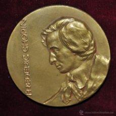 Medallas temáticas: MEDALLA DE FREDERIC CHOPIN. CARTUJA DE VALLDEMOSA. MALLORCA. CALICO DEL AÑO 1965.. Lote 55054881