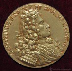 Medallas temáticas: MONEDA CONMEMORATIVA DE BARCELONA CAPITAL DEL IMPERIO HISPANICO, CARLUS III D.G. HISP. REX.1701-1714. Lote 55063363