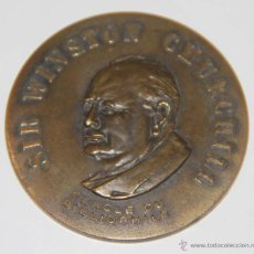Medallas temáticas: MEDALLA SIR WINSTON CHURCHILL. CERCLE DU BIBLIOPHILE. BRONCE. FRANCE. Lote 55075766