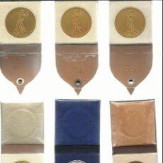 Medallas temáticas: RARA COLECCION DE MEDALLAS DE BAILE DE LOS AÑOS 1949/1950/1951/1952 EN CATEGORIA ORO PLATA BRONCE. Lote 55092563
