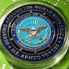 Medallas temáticas: GRAN MONEDA DE U.S ARMED FORCES FUERZAS AEREAS DE LOS ESTADOS UNIDOS DE AMERICA GRAN TAMAÑO. Lote 77570447