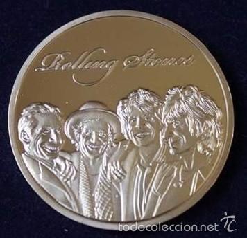 Medallas temáticas: MONEDA DE LOS ROLLING STONES ORO 24KT Y APLICACIONES DE COLOR ESTABLISHED 1962 EN CAPSULA PROTECTORA - Foto 4 - 135287365