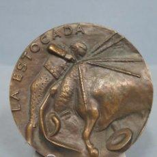 Medallas temáticas: PRECIOSA MEDALLA DE BRONCE. LA ESTOCADA. MANOLO PRIETO. TAUROMAQUIA. Lote 55264490