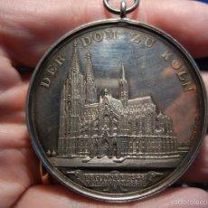 Thematic medals - Medalla Catedral de Colonia. Alemania. Plata. 1880. - 55337099