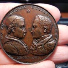 Medallas temáticas: BÉLGICA. MEDALLA DE BRONCE. LEÓN XII Y GUILLERMO I. 1827.. Lote 55337695