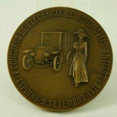 Medallas temáticas: MEDALLA COCHES ELEGANCIA EN AUTOMOVILES ANTIGUOS 1978 NUMERADA 8/100. Lote 55555379