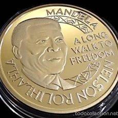 Medallas temáticas: MONEDA ORO NELSON MANDELA 1964 - 1982 A LONG WALK TO FREEDOM. Lote 60585515