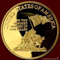 Medallas temáticas: PRECIOSA MONEDA ORO CONMEMORATIVA EN MEMORIA A LOS CAIDOS EN GUERRA DE LOS MARINE CORPS. Lote 82390128