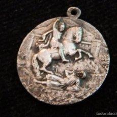 Medallas temáticas: ALCOY- EN TRASERA :SAN JORGE MARTIR,PATRONO DE ALCOY. 30 MM. PROBABLEMENTE PLATA,ANTIGUA. Lote 55772822