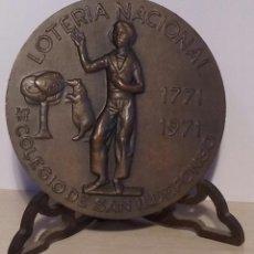 Medallas temáticas: MEDALLA LOTERIA NACIONAL COLEGIO SAN ILDEFONSO 200 ANIVERSARIO, 1771-1991. Lote 55940628