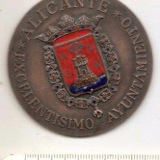 Medallas temáticas: AYUNTAMIENTO DE ALICANTE. ESMALTADA. Lote 56122028